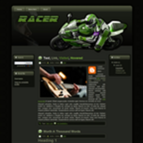Product picture Racer Wordpress Theme