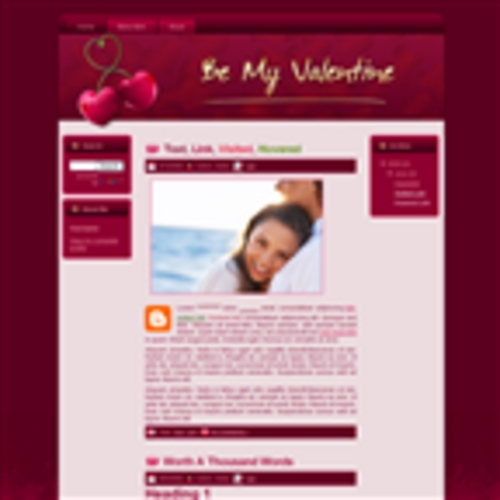 Product picture Cherry Love Valentines WP Theme