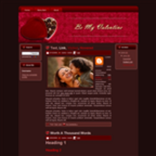 Product picture Chocolate Valentines Wordpress Theme